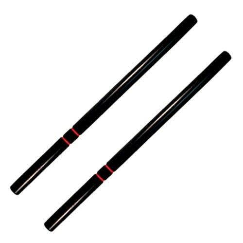 "Pair 2 Escrima Kali Arnis Fighting Martial Arts Stick White Oak 26/"" with Case"