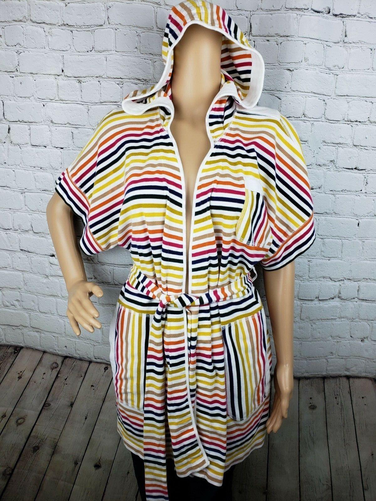 Anthropologie Lilka Striped Cardigan Tie Waist Hoodie Size Size Size S M 88feed