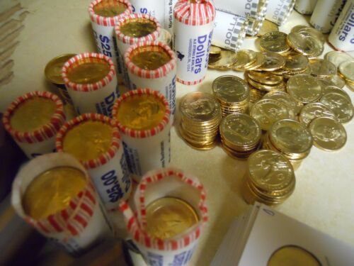 Gold Presidential Dollars 2007-2011 Most D Lot of $20 in Random Uncirculated
