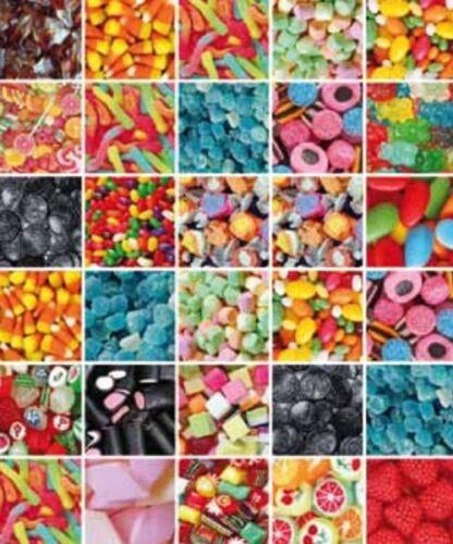Klebefolie Möbelfolie Candy Süßigkeiten 45 cm x 200 cm Designfolie Dekorfolie