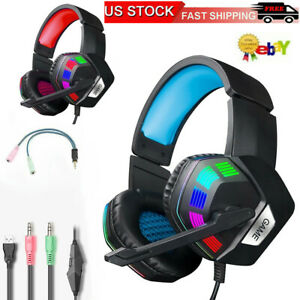 For-PS4-Laptop-Xbox-one-Gaming-Headset-Stereo-Surround-Headphone-3-5mm-Wired-Mic