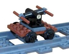 LEGO Train Railway Pump Car Hand Maintenance Trolley Jigger NEW