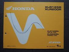 JDM HONDA XLR125R XLR200R P JD16 MD29 Original Genuine Parts List Catalog XLR