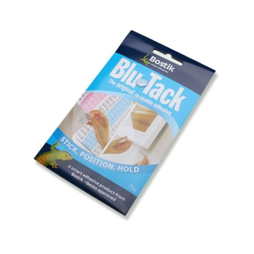 Blu Tack Multipurpose Adhesive Clay Reusable Removable Adhesive Putty Tabs 75g