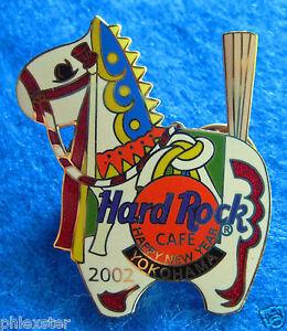 Yokohama-Giapponese-Nuovo-Anno-2002-Bianco-Toy-Decorativi-Cavallo-Rigida-Rock-A