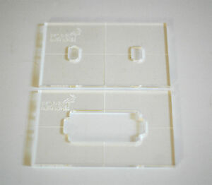 Guitar Humbucker pickup routing template, set of 2, template milling ...