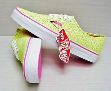 Vans Women's Authentic Ditsy Floral Neon Yellow VN-0VOEAWM Size: 10