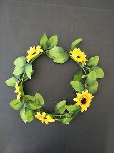 New-Adults-Womens-Mens-Sunflower-Wreath-Party-Costume-Summer-Flower-hairband