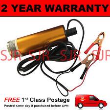 12v combustible Agua Diesel transferencia pump/filter Sumergible Portátil Clip en batería