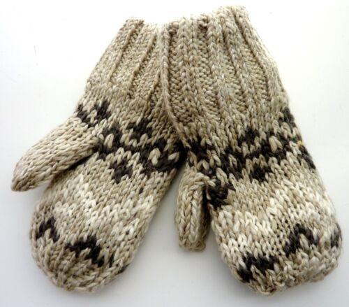 Baby GAP Boy BEIGE Fairisle Knitted FLEECE Lined Gloves Mittens 2-5y £9.95