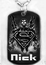 SUPERMAN-Dogtag Necklace/Key chain + FREE PERSONALIZATION