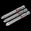 Herramienta de Alimentación AK210511 Sealey Bits Phillips #2 Color Codificado S2 75mm 3pc conjuntos de bits