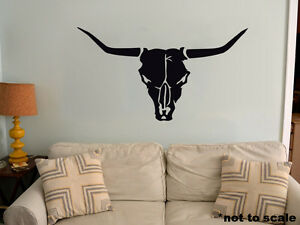 Bull Skull Interior Wall Sticker Decal vinyl decor cow skeleton head old west