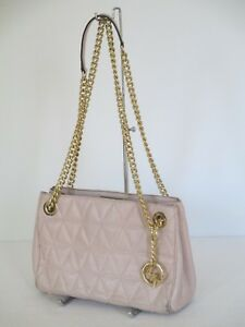 60ada70f6739 Image is loading Michael-Kors-Scarlett-Medium-Messenger-Soft-Pink-Leather-