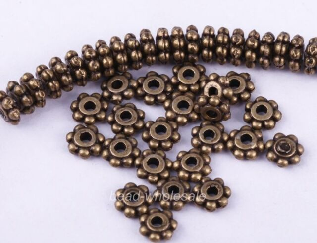 1000pc Antique Silver/Gold/Bronze/Copper Daisy Flower Spacer Beads For Craft 4mm