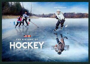 #5253c History Of Hielo Hockey, Souvenir Hoja, Nuevo Cualquier 5=