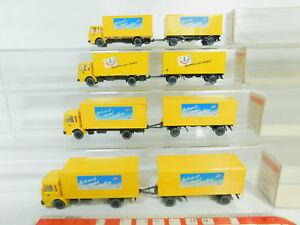 BO725-0-5-4x-Wiking-H0-1-87-551-Lastzug-MAN-Post-Schreib-mal-wieder-s-g-OVP