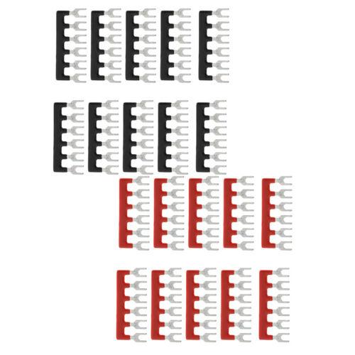 20 Stück Klemmleiste Jumperleiste 6 Positionen Klemmensperrenleiste Jumper