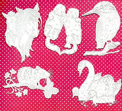8 NEW CAT+DOG SILHOUETTE SCENE FRAME DIE CUTS B// W TOPPER PET ANIMAL