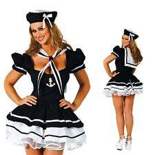 Women's Sexy Halloween Lady Sailor Fancy Dress Costume Outfit Lingerie Underwear