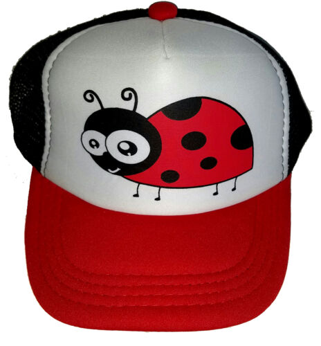 Kid/'s Ladybug Summer  Snapback Mesh Trucker Hat Cap Toddler Children
