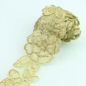 Applikation Farbe Golden Verziert Nähen 6.3 CM Borten /& Bänder Dekoration