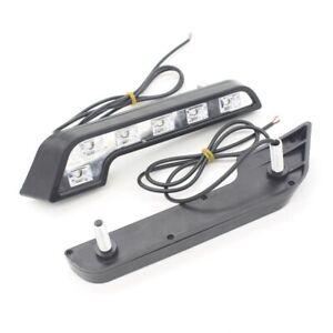 Auto-6-COB-E4-LED-Car-Headlight-Daytime-W204-W124-Kit-DRL-Source-Parking-Driving
