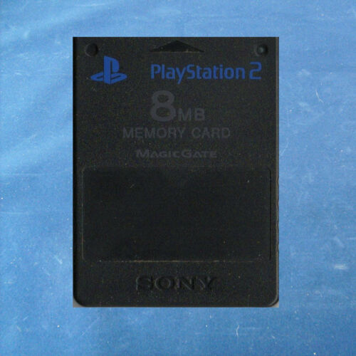 1 von 1 - PS2 - Playstation ► Sony Playstation 2 - 8 MB Memory Card MagicGate ◄ Schwarz