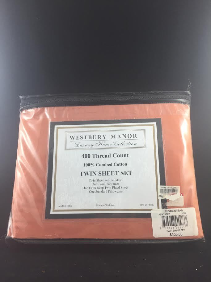 Westbury Manor 3-Piece Twin Sheet Set