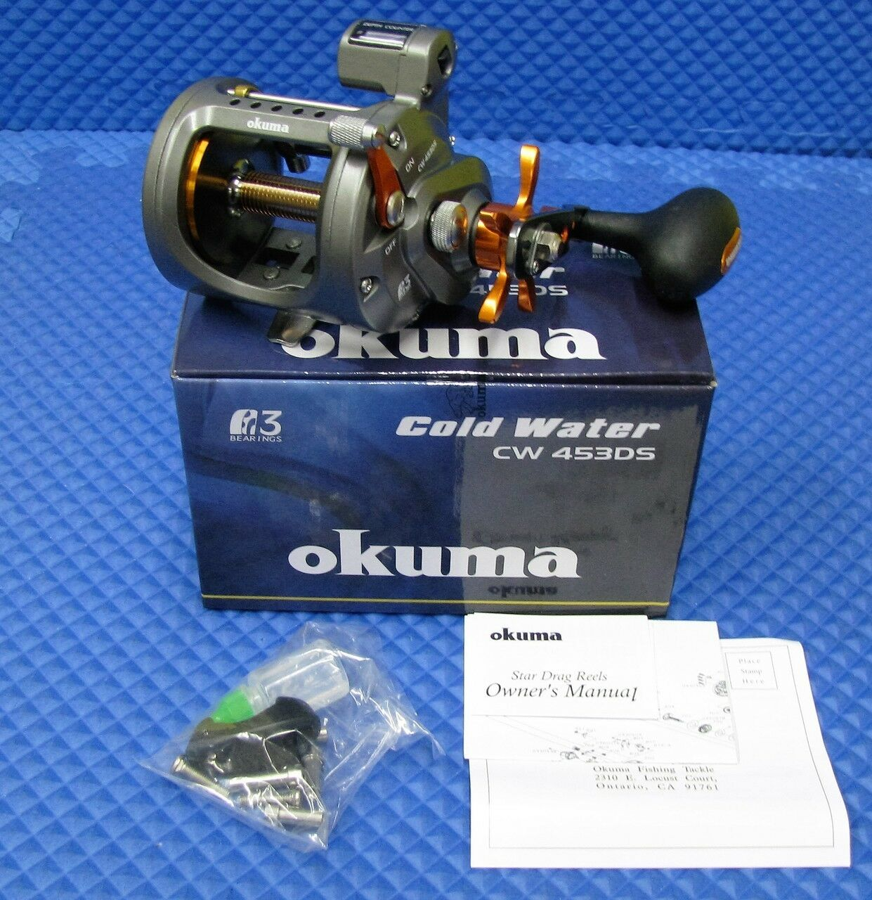 Okuma HI Speed Cold Water Trolling Reel With Depth Counter NEW    CW 453DS