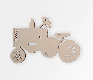 Wooden Shape Tractor, Wooden Cut Out, Wall Art, Home Decor, Wall Hanging