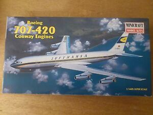 1-144-Minicraft-no-14455-Boeing-707-420-Conway-engines-kit-conf-orig