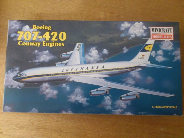 1:144 Minicraft no. 14455 Boeing 707-420 Conway engines. kit. conf. orig.