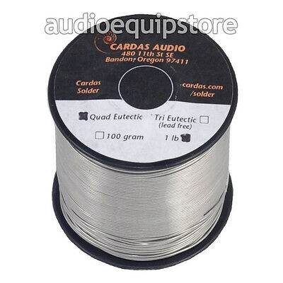 CARDAS AUDIO Soldering Wire Quad Eutectic Silver Solder w flux rosin 1lb (454g)