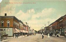 c1910 Chromograph Postcard; Main Street Scene, Independence IA Buchanan Co Used