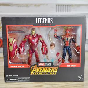 Hasbro-Marvel-Legends-6-034-Iron-Man-Mark-50-amp-Iron-Spider-Man-Box-Set-New