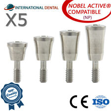 5 Healing Caps Np For Nobel Biocare Active Hex Dental Implant Dentist