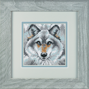 Call of the Wolf Needlepoint Kit D07211 Dimensions -Mini