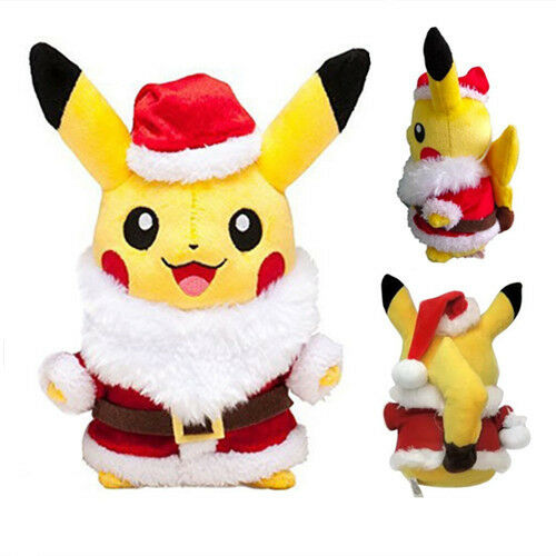 pokemon pikachu christmas santa claus coat hats plush stuffed doll xmas gift ebay - Christmas Pikachu