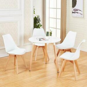 Detalles de Mesa Redonda de Cocina Comedor Moderna Con 4 sillas de comedor  Juego de mesa y s