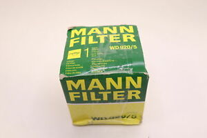 Mann-Filter Operating Hydraulic Spin-On Filter 3,0 Bar WD920/5