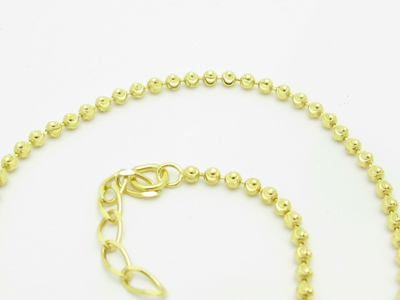 18kt oro Giallo argentoo Sterling Sterling Sterling Taglio Diamante Perlina Aureola 8e0ab2