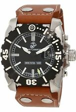 NEW Wrist Armor WA122 C2 Mens US MARINES Semper Fi Leather Military Diver Watch