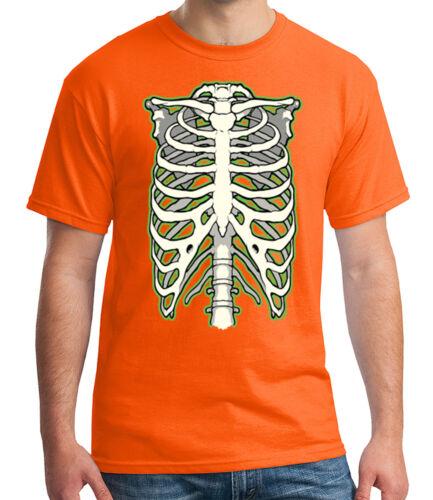 1287 C Costillas/'S Halloween Para Adulto Esqueleto Podrido Camiseta Camiseta para hombre