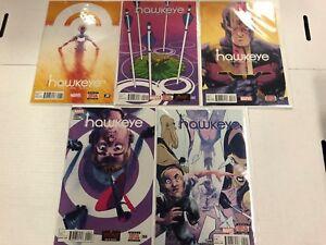 All New Hawkeye #1 2 3 4 5 Comic Book Run Set Marvel 2015