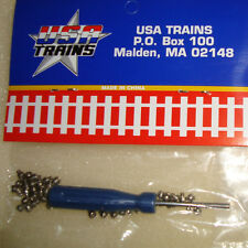 50 STAINLESS STEEL TRACK HEX SCREWS R80002 FOR USA TRAINS, ARISTO, BACHMANN