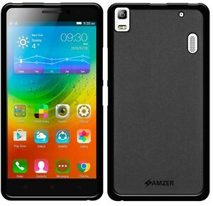 newest 92b2a a45c0 Details about AMZER Black Pudding Matte TPU Case Back Cover For Lenovo  A7000/ Turbo / K3 Note