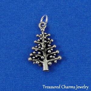 Silver-CHRISTMAS-TREE-CHARM-Holiday-Pine-Tree-PENDANT