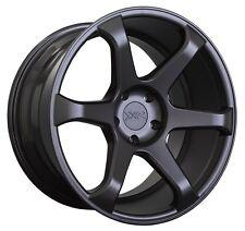 XXR 556 18x8 Rims 5x114.3mm +42 Black Wheels Fits Tuburon Mazda 3 Eclipse Rx8