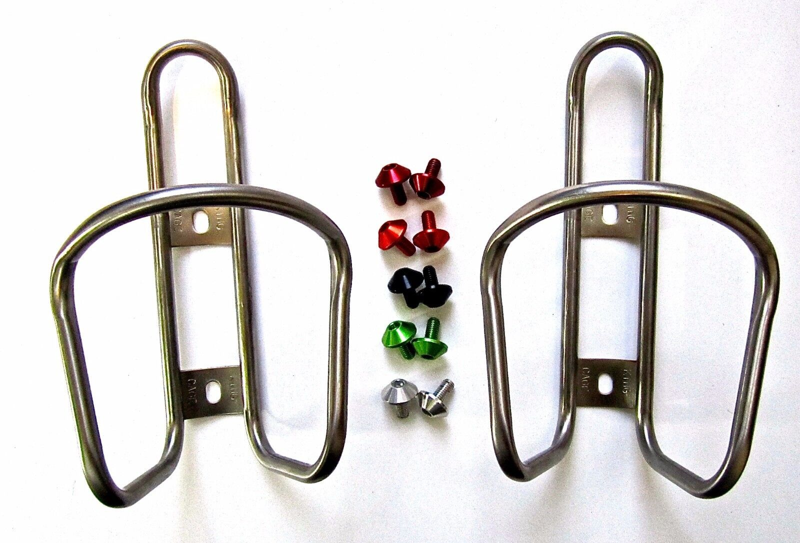 2x King Titanium Ti Bottle Cage 28g +FREE MT ZOOM Shroom bolts tune it extralite